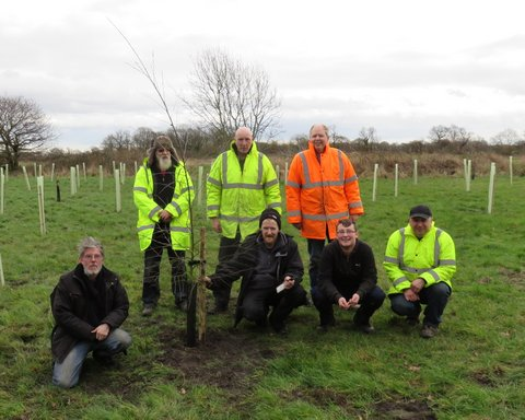 The planting team from ERY Conservation